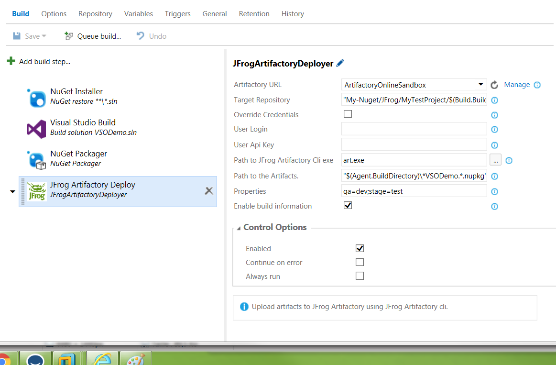 deprecated] JFrog Artifactory Integration - Visual Studio